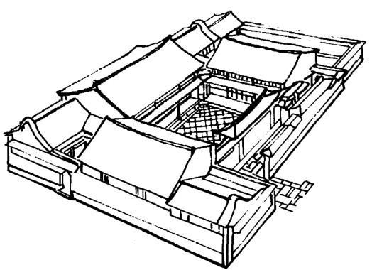 舫建筑立面图手绘